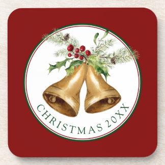 Porta-copo Aguarela do Natal | - visco & Bels do azevinho