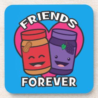 Porta-copo Amigos para sempre - manteiga de amendoim e geléia