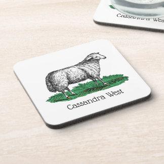 Porta-copo Animais de fazenda da ovelha dos carneiros do