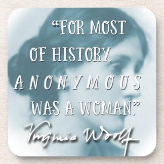 Porta-copo Anónimo era um azul das citações de Virgínia Woolf