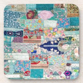 Porta-copo Aqua e design azul da tapeçaria da edredão
