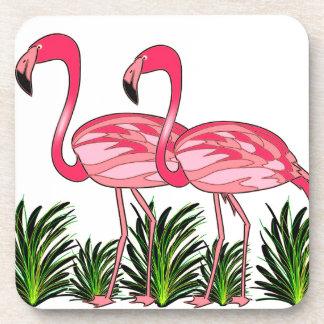 Porta-copo Arte do amor do flamingo