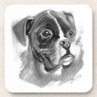 Porta-copo Arte do cão do pugilista