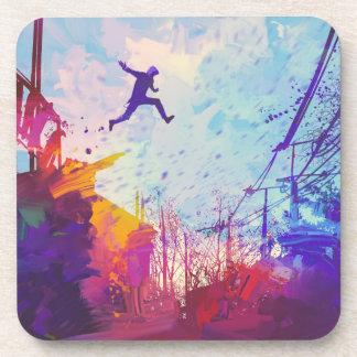 Porta-copo Arte moderna Running livre urbana de Parkour