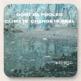Porta-copo As alterações climáticas são geleira de