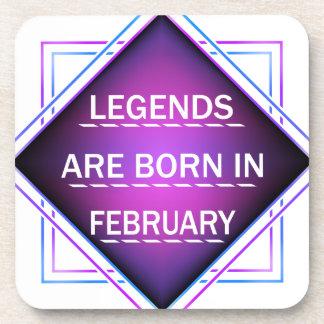 Porta-copo As legendas são nascidas em fevereiro