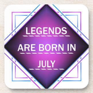 Porta-copo As legendas são nascidas em julho