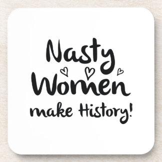 Porta-copo As mulheres desagradáveis fazem a história