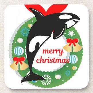 Porta-copo baleia de assassino do Feliz Natal