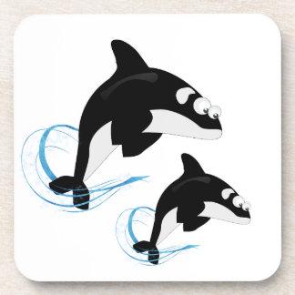 Porta-copo baleias