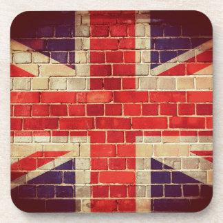 Porta-copo Bandeira BRITÂNICA do vintage em uma parede de