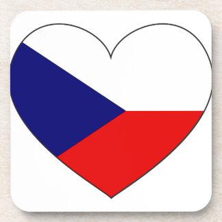 Porta-copo Bandeira da república checa simples