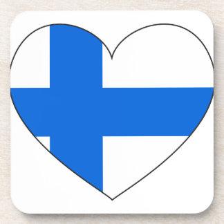 Porta-copo Bandeira de Finlandia simples