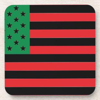 Porta-copo Bandeira do afro-americano - preto e verde