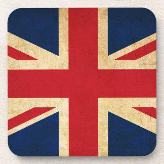 Porta-copo Bandeira velha Union Jack de Reino Unido do Grunge