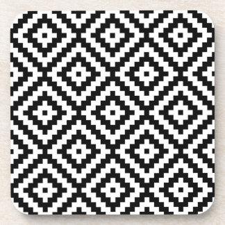 Porta-copo Bloco asteca Ptn do símbolo preto & branco II