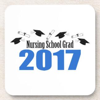 Porta-copo Bonés e diplomas do formando 2017 da escola de