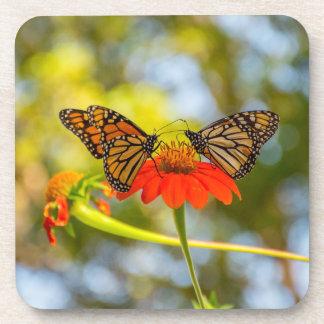 Porta-copo Borboletas de monarca em Wildflowers