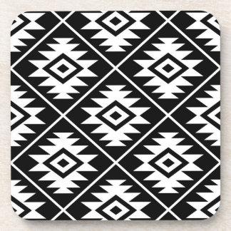 Porta-copo Branco grande estilizado de Ptn do símbolo asteca