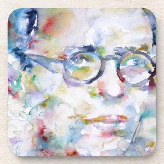 Porta-copo brim Paul sartre - retrato da aguarela