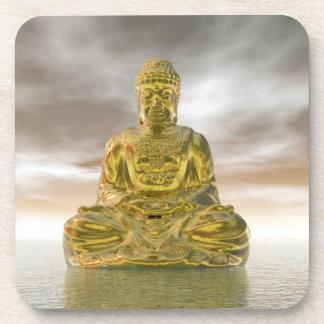 Porta-copo Buddha dourado - 3D rendem