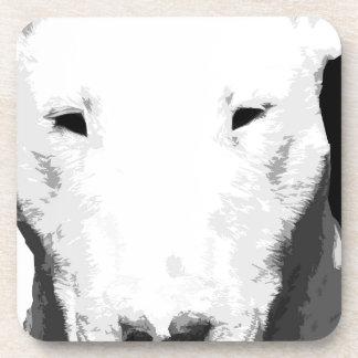 Porta-copo Bull terrier preto e branco