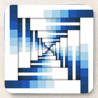 Porta-copo Camadas geométricas de azul