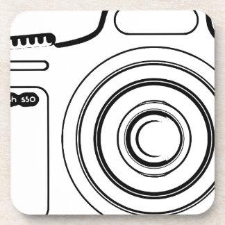 Porta-copo Câmera preto e branco