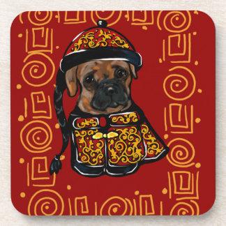 Porta-copo Cão do pugilista do ano