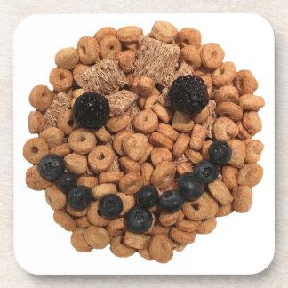 Porta-copo Cara de sorriso bonito da fruta e do cereal