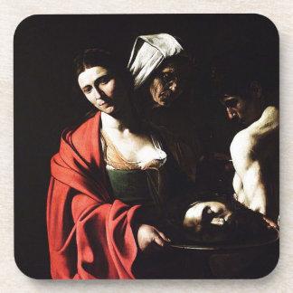 Porta-copo Caravaggio - Salome - trabalhos de arte barrocos