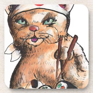 Porta-copo cat eating sushi