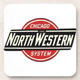 Porta-copo Chicago & logotipo do noroeste 1 da estrada de