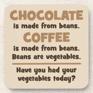 Porta-copo Chocolate, café, feijões, vegetais - novidade