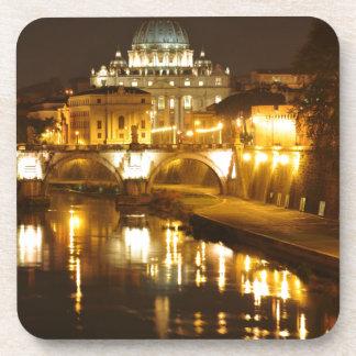Porta-copo Cidade do Vaticano, Roma, Italia na noite