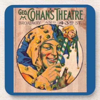 Porta-copo cobrir do playbill do teatro de Cohan do 1920