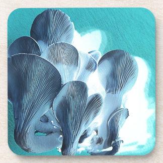 Porta-copo Cogumelos de ostra no azul