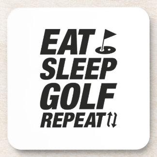 Porta-copo Coma a repetição do golfe do sono