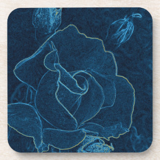 Porta-copo contorno do rosa do azul