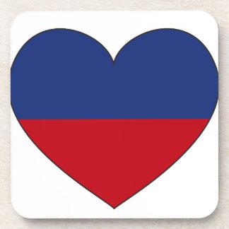Porta-copo Coração da bandeira de Haiti