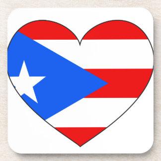 Porta-copo Coração da bandeira de Puerto Rico