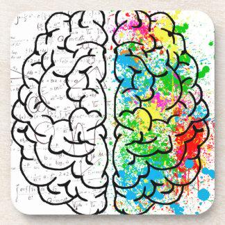 Porta-copo corações da ideia da psicologia da mente do