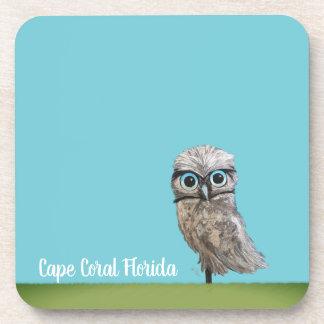 Porta-copo Coruja Burrowing coral do cabo