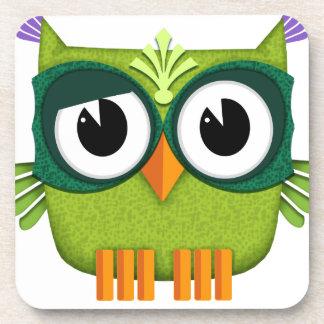 Porta-copo coruja verde