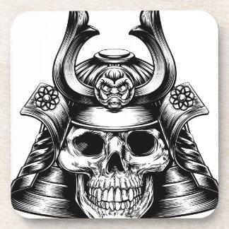 Porta-copo Crânio do samurai