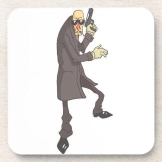Porta-copo Criminoso perigoso do assassino profissional