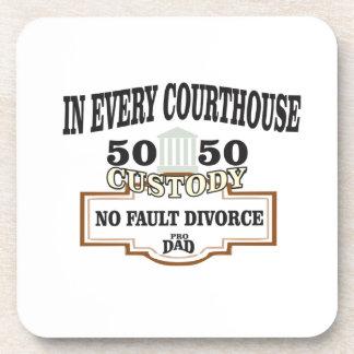 Porta-copo custódia 50 50 em cada tribunal
