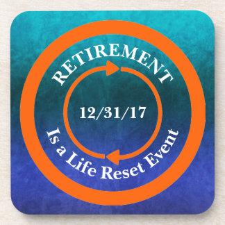 Porta-copo Data alaranjada da aposentadoria do ícone da