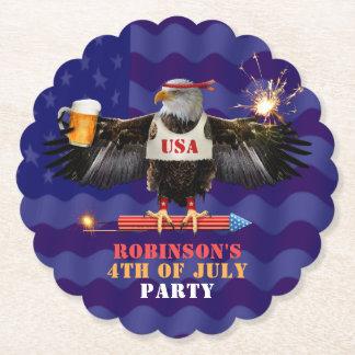 Porta-copo De Papel 4o da cerveja e de fogos-de-artifício patrióticos