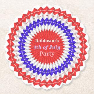 Porta-copo De Papel 4o do costume azul branco vermelho patriótico da